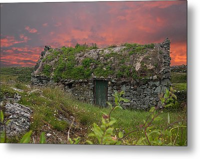 Irish Cottage Metal Print