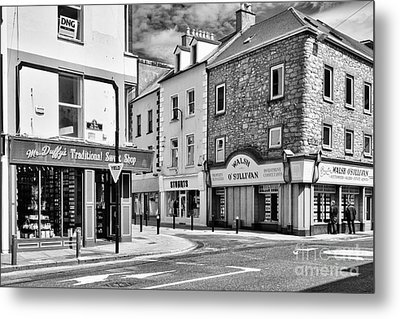 Metal Print featuring the photograph Irish Shops by Juergen Klust
