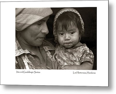 Metal Print featuring the photograph Irma And Guadaloupe Santos by Tina Manley