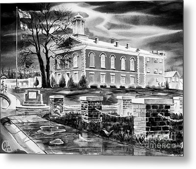 Iron County Courthouse IIi - Bw Metal Print by Kip DeVore