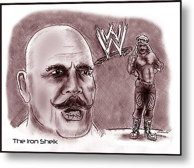 Iron Sheik Metal Print by Chris  DelVecchio
