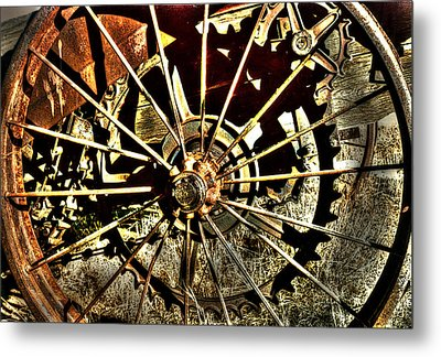 Iron Spokes Metal Print by Craig T Burgwardt