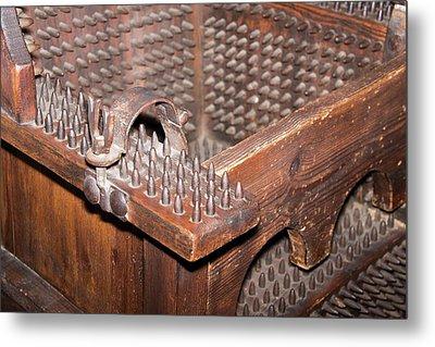 Iron Torture Chair Metal Print