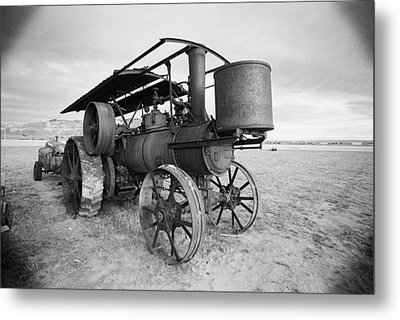 Iron Wheels And Steam Metal Print by HW Kateley