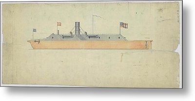 Ironclad Warship Css Virginia Metal Print