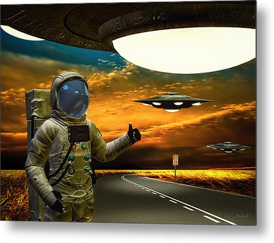 Ironic Number Four - Hitchhiker Metal Print by Bob Orsillo