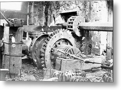 Ironworking Forge Machinery Metal Print by Hagley Museum And Archive