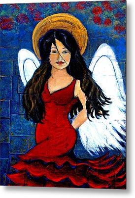 Isabella  A Spanish Earth Angel From Cultures Around The World Metal Print by The Art With A Heart By Charlotte Phillips