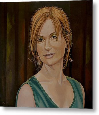 Isabelle Huppert Painting Metal Print by Paul Meijering
