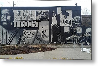 Isis Theater 3102 Troost Ave Kansas City Mo Side Of The Building Tribute Metal Print by Sonya Wilson