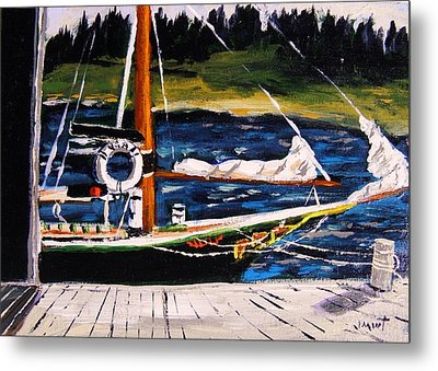 Metal Print featuring the painting Island Berth by John Williams