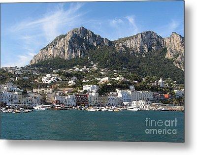 Island Capri Panoramic Sea View Metal Print