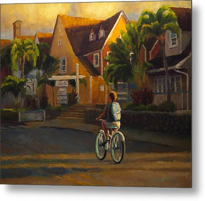 Island Commute Metal Print by Jeanne Young