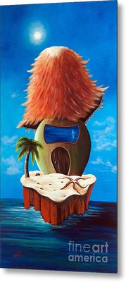 Island Cottage By Shawna Erback Metal Print by Shawna Erback