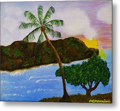 Island Escape Metal Print by Celeste Manning