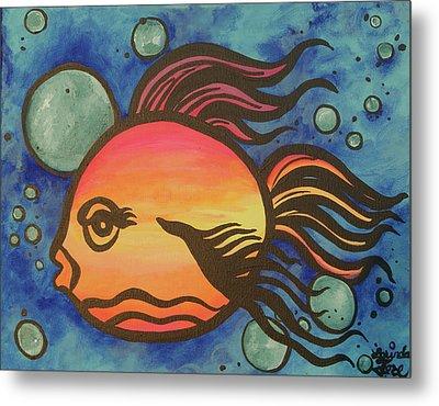 Island Fish Metal Print by Lorinda Fore
