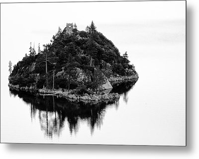 Island In A Lake Metal Print by Celso Diniz