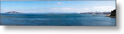 Island In The Ocean, Angel Island Metal Print by Panoramic Images