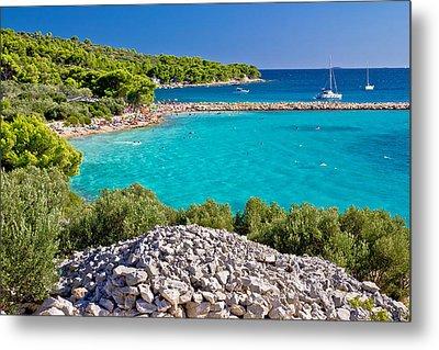 Island Murter Turquoise Lagoon Beach Metal Print by Brch Photography