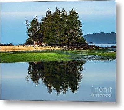 Island Reflection Metal Print by Robert Bales