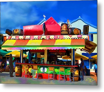 Island Stand Metal Print by Gerry Robins