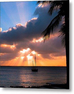 Metal Print featuring the photograph Island Sunset by Haren Images- Kriss Haren