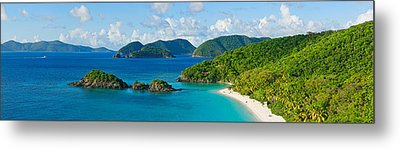 Islands In The Sea, Trunk Bay, St Metal Print by Panoramic Images