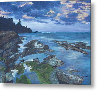 Metal Print featuring the painting Isle Coast by Cynthia Morgan