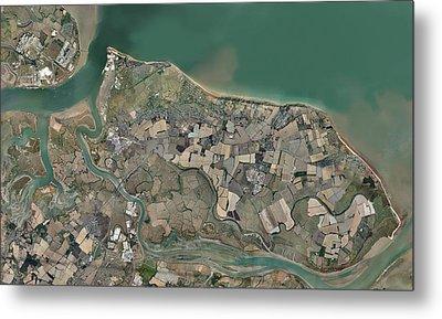 Isle Of Sheppey, Uk, Aerial View Metal Print