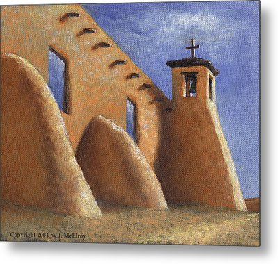Isleta Pueblo Church Metal Print