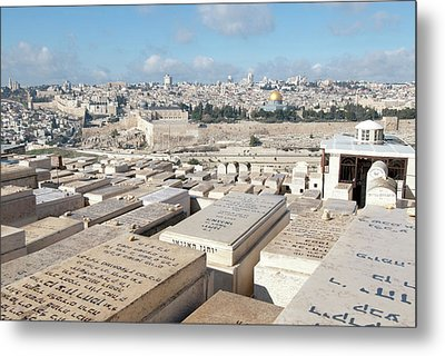 Israel, Jerusalem, View Of The Old City Metal Print