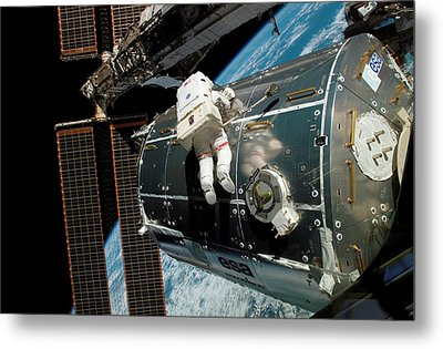 Iss Columbus Module Installation Metal Print by Nasa