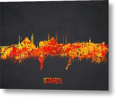 Istanbul Turkey Metal Print by Aged Pixel