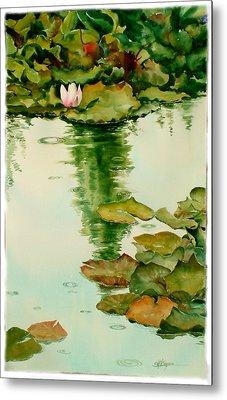It Also Rains In Monet's Garden Metal Print