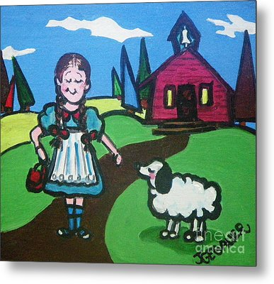 It Followed Her To School One Day Metal Print by Joyce Gebauer