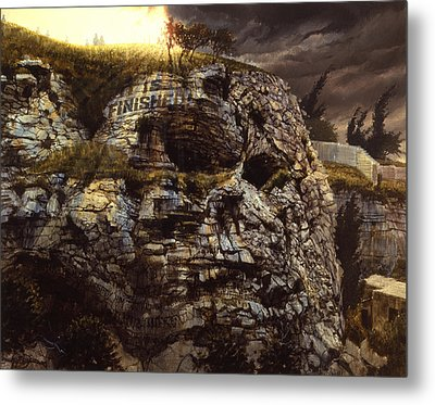 It Is Finished Calvary Jerusalem Metal Print by Graham Braddock