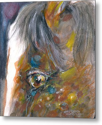 Metal Print featuring the painting It Is In The Eye by Mary Armstrong