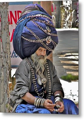 Its All In The Head - Rishikesh India Metal Print