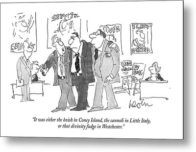 It Was Either The Knish In Coney Island Metal Print by Arnie Levin