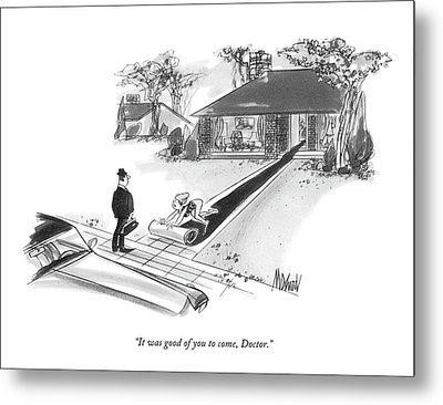 It Was Good Of You To Come Metal Print by Kenneth Mahood