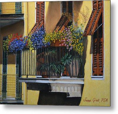 Italian Balcony Metal Print