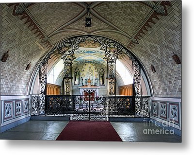 Italian Chapel Mural Lamb Holm Orkney Metal Print by Tim Gainey