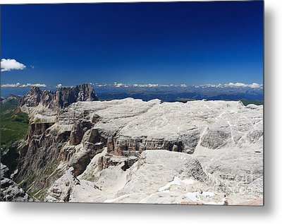 Italian Dolomites - Sella Group Metal Print by Antonio Scarpi