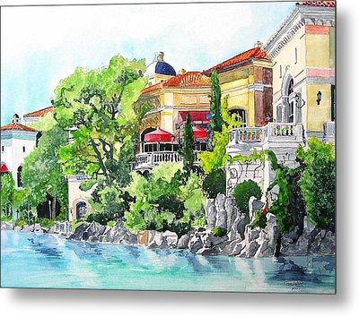 Metal Print featuring the painting Italian Fantasy by Tom Riggs