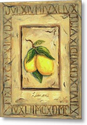 Italian Fruit Lemons Metal Print