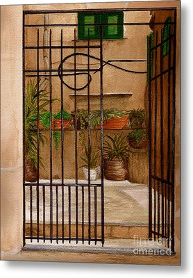 Italian Iron Gate Metal Print