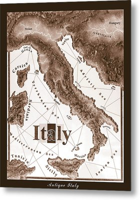 Italian Map Metal Print by Curtiss Shaffer