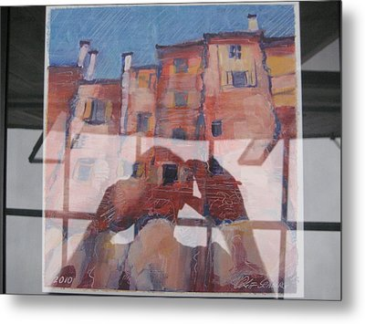 Italian Painting Reflection Metal Print
