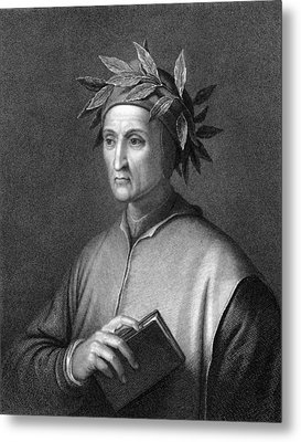 Italian Poet Dante Alighieri Metal Print by Underwood Archives