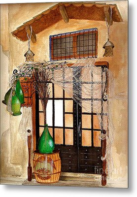 Metal Print featuring the painting Italian Restaurant  by Nan Wright